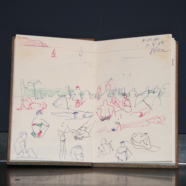 Jim Thompson Art Center Travel Sketchbook (ca.1988)